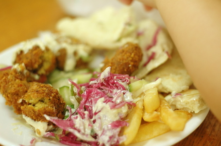 Falafel Sandwich in the Old City of Jerusalem