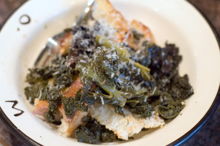 Warm Winter Greens and Bread Salad