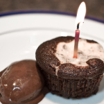 Chocolate Cupcakes With Cream Cheese Filling And Chocolate Gelato