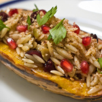 Recipe: Delicata Squash Stuffed with Orzo in a Sage Brown Butter Sauce