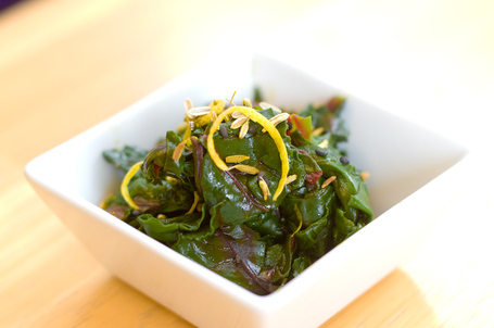 Recipe: Beet Recipe: Greens with Pumpkin Seed Oil and Cherry Vinegar