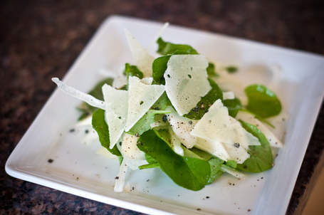 White Asparagus Salad with Watercress and Romano