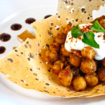 Chana Chaat in a Papadum Bowl – Recipe