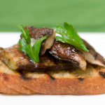 Recipe: Grilled Eggplant And Shiitake Bruschetta