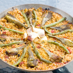 Vegetarian Paella With Artichokes And Green Beans – Recipe