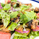 Healthy Thai-Style Salad of Grilled Eggplant, Tofu, and Watermelon – Recipe