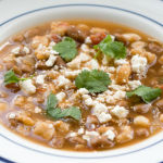 Vegetarian Pozole de Frijol – Quick and Hearty Soup with Hominy and Pinto Beans – Recipe