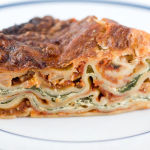 Vegetarian Lasagna Recipe with Spinach and Ricotta Filling for a Crowd, using No-Boil Noodles