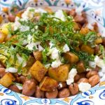 Fava Beans, Potatoes and Saffron Rice with Feta Cheese and Fresh Herbs – Recipe