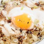 Fresh Fettuccine with Ricotta, Spring Onions and Fried Duck Egg – Recipe
