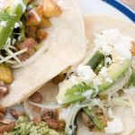 Roasted Potato and Asparagus Tacos with Kohlrabi Slaw – Recipe