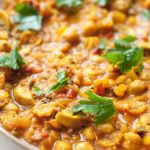 Quick Chana Masala with Mushrooms – Chickpea Curry – Recipe