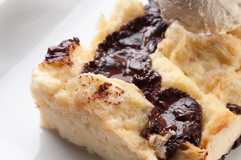 Bittersweet Chocolate Marble Bread Pudding Recipe — Dishmaps