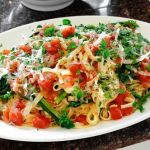 Fresh Fettuccine with Broccoli Raab in a Lemony Tomato Sauce – Recipe