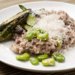 Mushroom Risotto with Asparagus and Fava Beans – Recipe, Including Pressure Cooker Variation