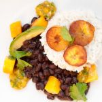Coconut Rice with Black Beans, Plantains, and Mango Salsa – Recipe