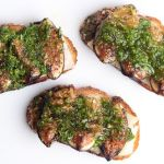 Crostini with Young Pecorino, Grilled Figs, and Arugula & Mint Pesto – Recipe