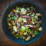 Pan Roasted Brussels Sprouts with Shiitakes and Smoked Paprika – Recipe