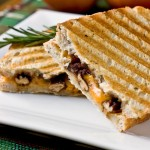 Cheddar and Apple Butter Panini with Rosemary Candied Pecans – Guest Recipe from Kathy Strahs of Panini Happy