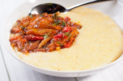 Polenta with Pepperonata