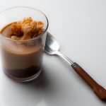 Butterscotch Pudding with Bittersweet Ganache and Caramelized White Chocolate Crispies – Recipe
