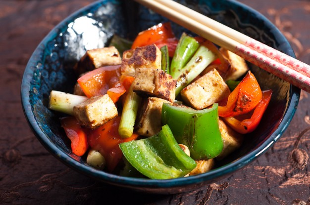 Super Spicy Tofu and Peppers