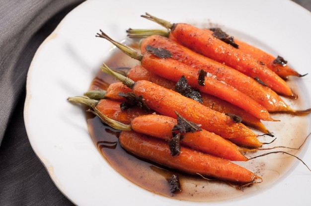 Roasted Carrots with Sage Brown Butter from the Savory Sweet Life Cookbook
