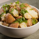 Green Garlic and Mint Potato Salad – Recipe