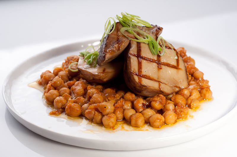Grilled Porcini with Chickpea Stew