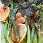 Grilled Chinese Broccoli and Lemon
