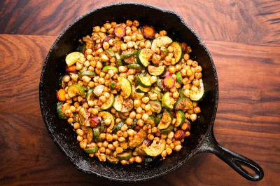 Zucchini and Chickpea Tagine