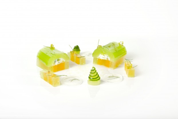Canlis Cucumber and Melon Terrine