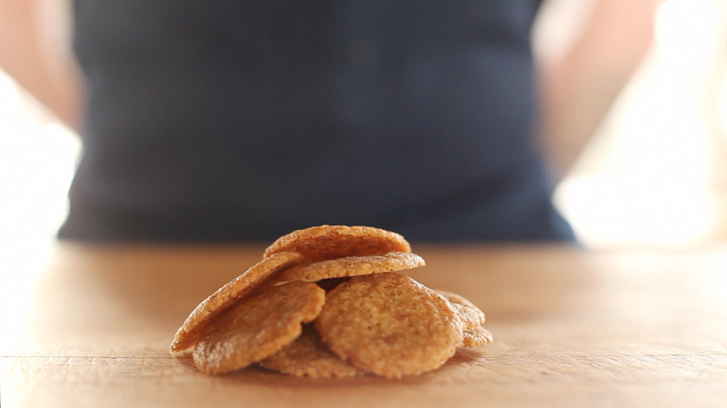 These homemade vanilla wafers, courtesy of my friend Nick at ChefSteps ...