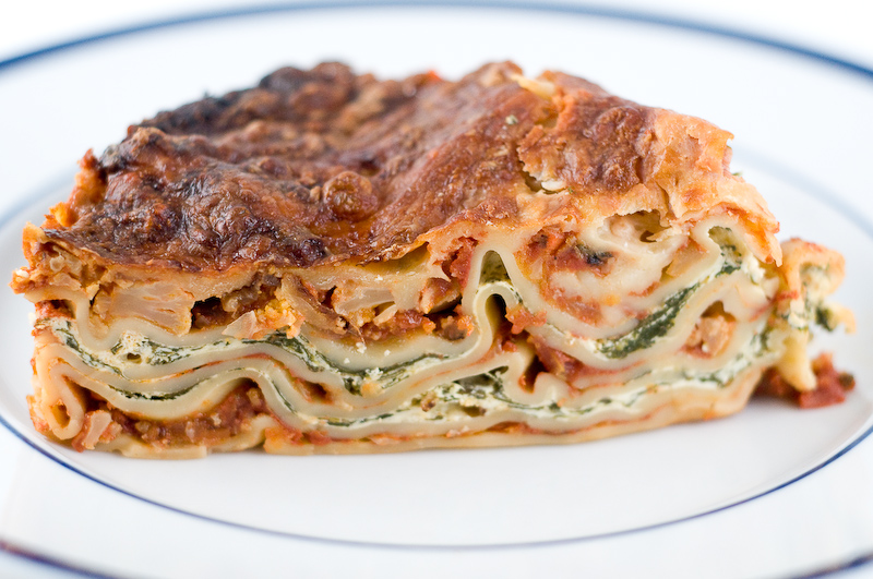 Vegetarian Lasagna With Ricotta And Spinach