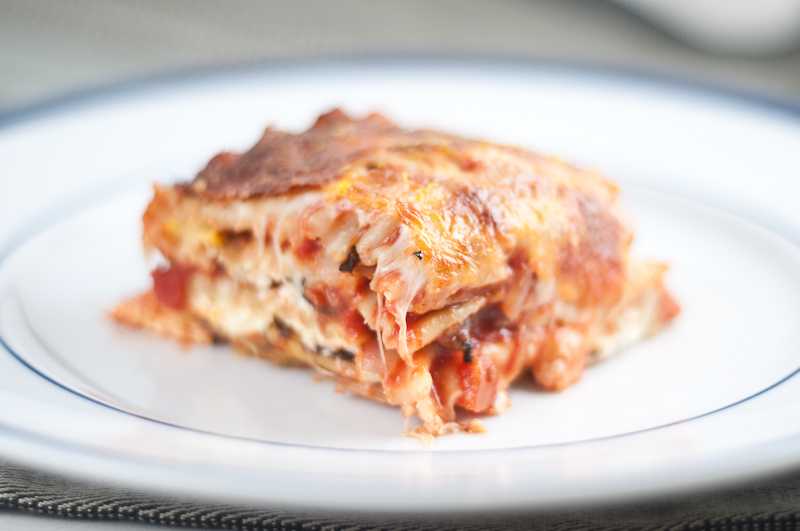 Summer Squash and Portobello Mushroom Vegetarian Lasagna