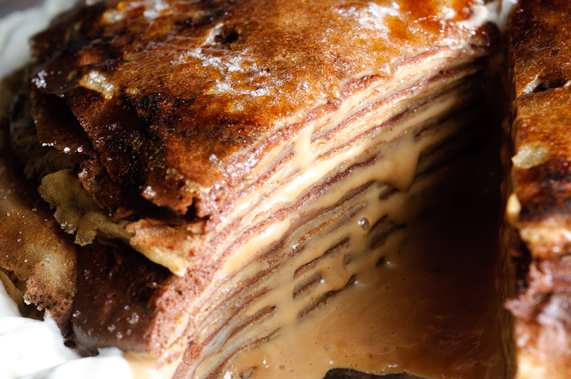 Gateau de Crepes with Chocolate Pastry Cream and Dulce De Leche ...