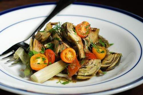 Braised Baby Artichokes with Fennel and Cherry Tomatoes – Recipe ...