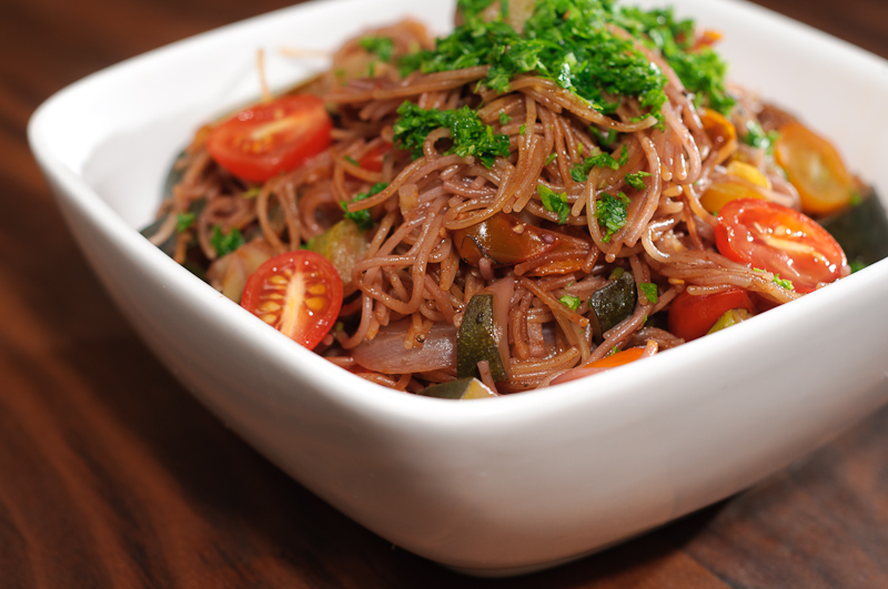 Peppery Red Wine Capellini - Cooked By The Absorption Method - Recipe ...