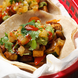 ... tacos are mainly street food in Mexico, they are fantastic for an