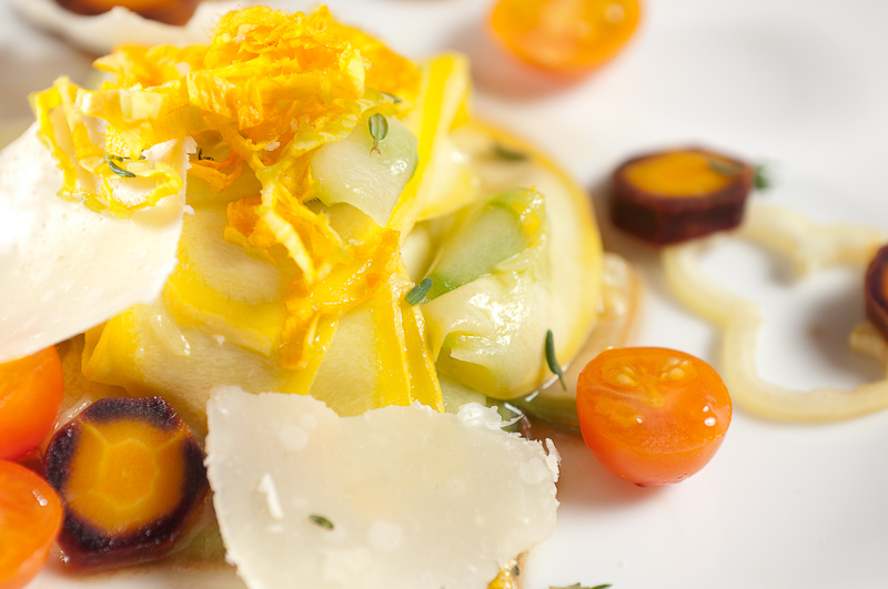 Shaved Summer Squash Composed Salad