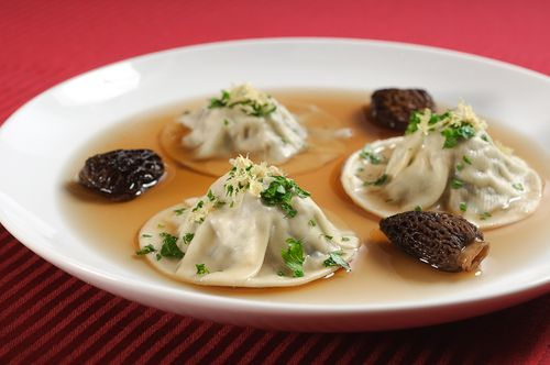 Shiitake and Morel Ravioli
