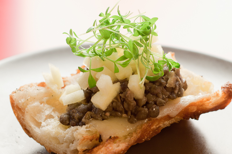 Bruschetta Truffle Cheese Lentils Apples