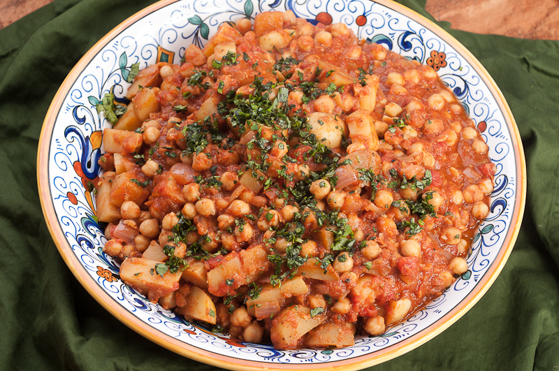 Turkish Chickpea and Potato Stew with Baharat