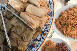 Red Chile Tamales Top
