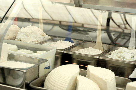 Israeli Dairy Products at Mahane Yehuda Market