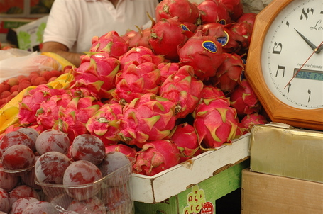 Dragon Fruit at Mahane Yehuda Market, Jerusalem