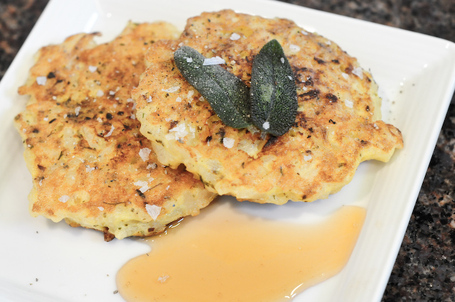 Risotto Cakes With Sherry Gastrique