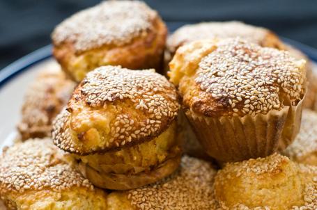 Sesame Corn Muffins