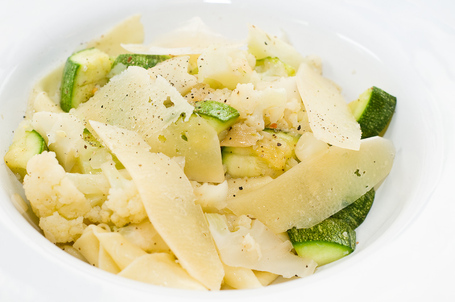 Pappardelle With Cauliflower and Zucchini
