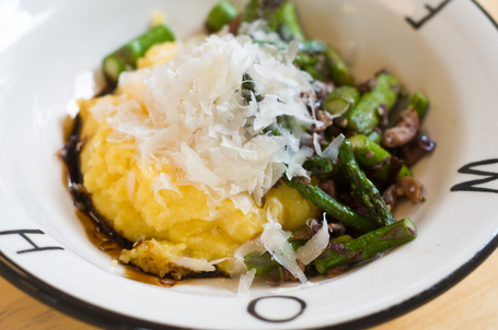 Polenta With Asparagus And Olives
